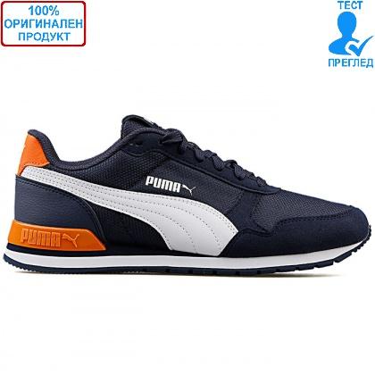 ОБУВКИ - Puma St Runner V2 Mesh - спортни обувки - синьо - оранжево