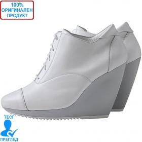 Adidas SLVR Oxford Wedge - дамски обувки на платформа - бяло