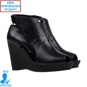 285101239d2 Adidas SLVR Ette - дамски обувки на платформа - естествена кожа - черно