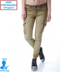 SW by Einstein - дамски панталон беж - странични джобове