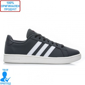 Adidas Grand Court - спортни обувки - сиво - бяло