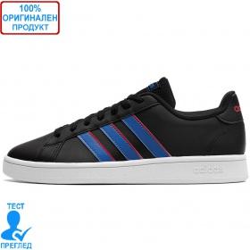 Adidas Grand Court - спортни обувки - черно - синьо
