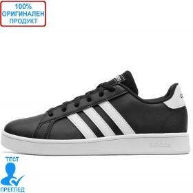 Adidas Grand Court K Black - спортни обувки - черно