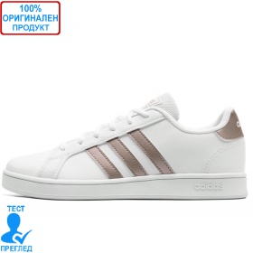 Adidas Grand Court K White - спортни обувки - бяло