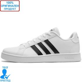 Adidas Grand Court K White Black - спортни обувки - бяло