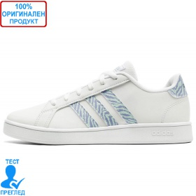 Adidas Grand Court K White Blue - спортни обувки