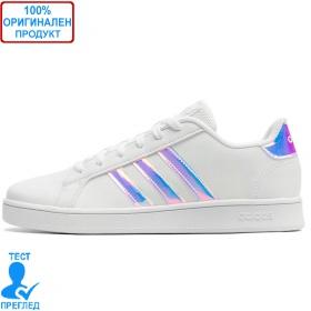 Adidas Grand Court K White Turquoise - спортни обувки