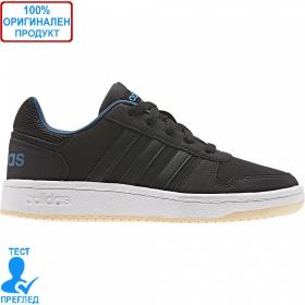 Adidas Hoops 2.0 Lo - кецове - черно - синьо