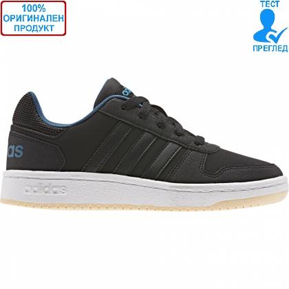 ОБУВКИ - Adidas Hoops 2.0 Lo - кецове - черно - синьо