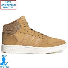 Adidas Hoops 2.0 Mid - обувки - кафяво
