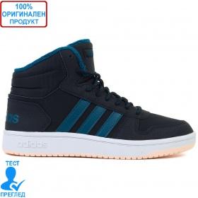 Adidas Hoops Mid - кецове - черно - синьо