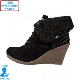 Adidas Neo Chill - дамски зимни обувки на платформа - черно