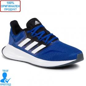 Adidas Runfalcon - маратонки - синьо - бяло