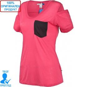 Adidas W Pocket - дамска тениска - розово