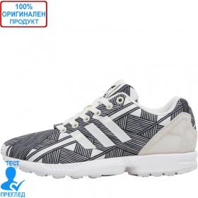f75cabf3a55 Adidas ZX Flux - спортни обувки - черно - бяло