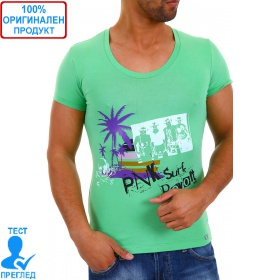 Bray Steve Alan by Einstein - мъжка тениска  - зелено лилаво