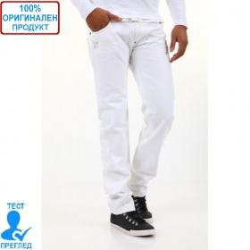 BSA by Einstein - мъжки панталон с бродериия  бял