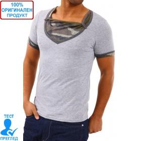 Carisma Einstein - мъжка тениска- сиво