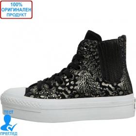 Converse All Star - кецове на платформа - черно - металик