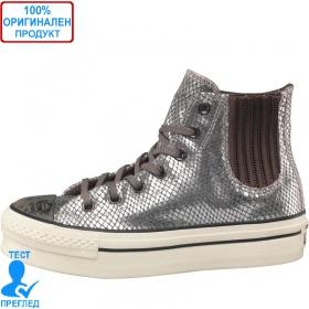 Converse All Stars - кецове на платформа - сив металик, Dreshnik.com