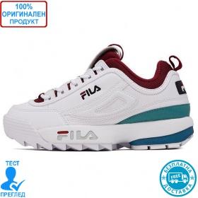 Fila Disruptor CB low wrh - спортни обувки - бяло - тъмно червено - зелено