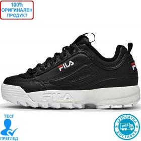 Fila Disruptor low - спортни обувки - черно - бяло