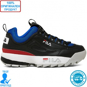 Fila Disruptor low - спортни обувки - черно- синьо - червено