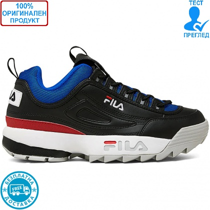 ОБУВКИ - Fila Disruptor low - спортни обувки - черно- синьо - червено