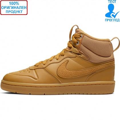 ОБУВКИ - Nike Court Borough Mid - обувки - кафяво - кафяво