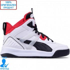Puma Backcourt Mid - обувки - бяло - червено