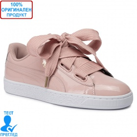 Puma Basket Heart Patent - спортни обувки - розово