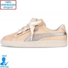Puma Basket Heart Up Beige - спортни обувки