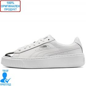 Puma Basket Platform Metallic - спортни обувки - бяло