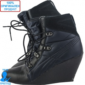 Puma Karmin Wedge Boot - дамски ботуши- черно