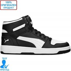 Puma Rebound LayUP - обувки - черно - бяло