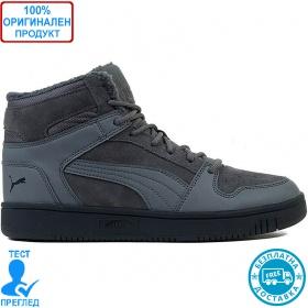 Puma Rebound Layup Fur - обувки - сиво - сиво