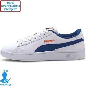 Puma Smash - спортни обувки - бяло - синьо, Dreshnik.com