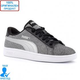 Puma Smash Glitz - спортни обувки - сиво - черно