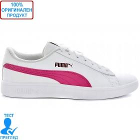 Puma Smash V2 L - спортни обувки - бяло - лилаво