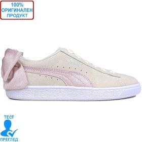 Puma Suede Bow Hexamesh - спортни обувки - сиво - розово