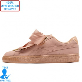 Puma Suede Heart Satin Pink - спортни обувки