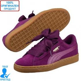 Puma Suede Heart SNK Purple - спортни обувки