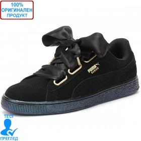 Puma Suede Hearts Satin - спортни обувки - черно, Dreshnik.com
