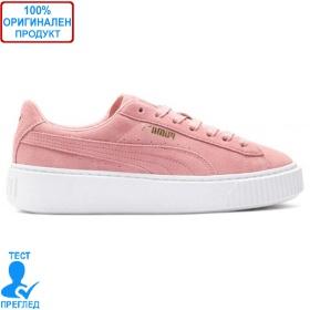 Puma Suede Platform Pink White - спортни обувки