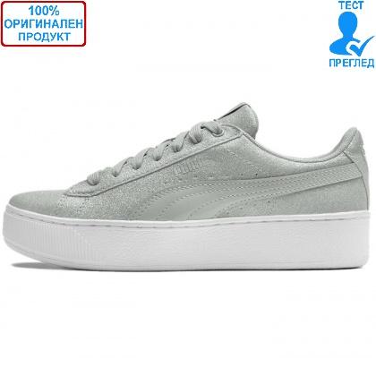 ОБУВКИ - Puma Vikky Platform Glitz Gray - спортни обувки - сиво