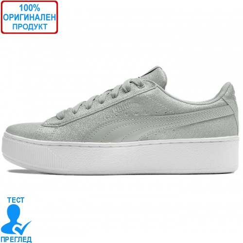 Puma Vikky Platform Glitz Gray - спортни обувки - сиво