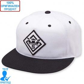 Supra - шапка с козирка - бяло - черно