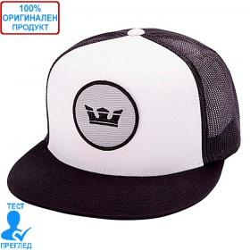Supra - шапка с козирка - мрежа - бяло - черно