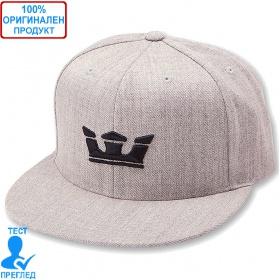 Supra - шапка с козирка - св. сиво - черно