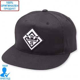 Supra - шапка с козирка - черно - бяло